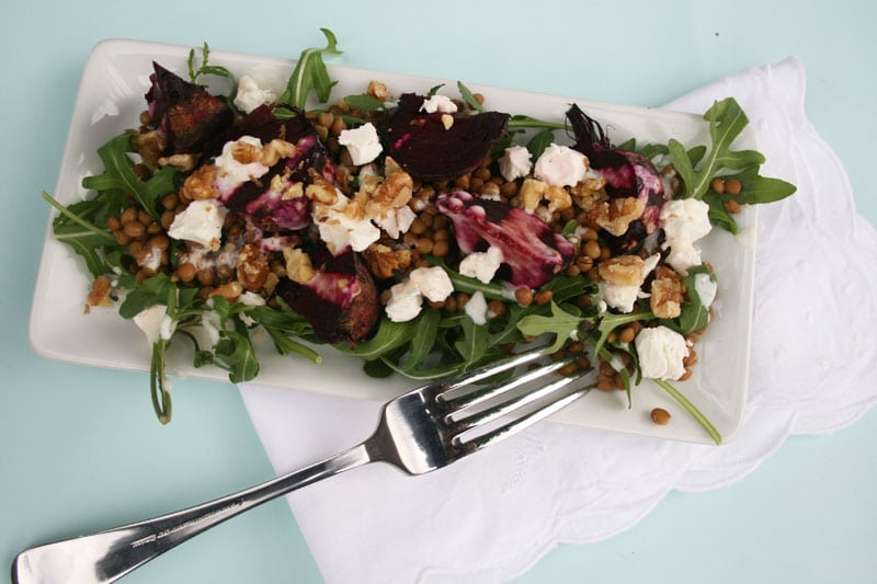 Beetroot Salad with Goat's Cheese and Walnuts