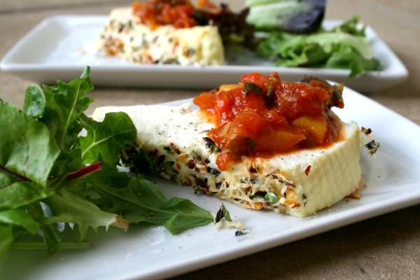Nan's Pepper Sauce with Baked Ricotta
