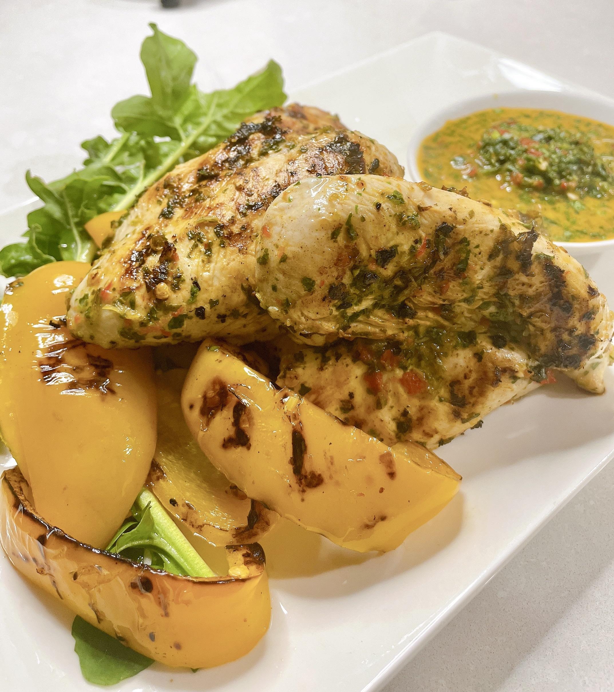 Grilled Chicken with coriander